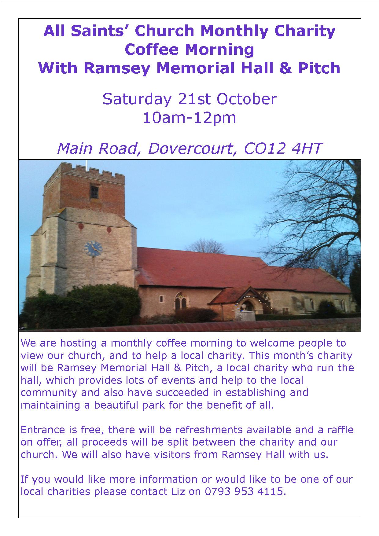 All Saints' Church Monthly Coffee Morning