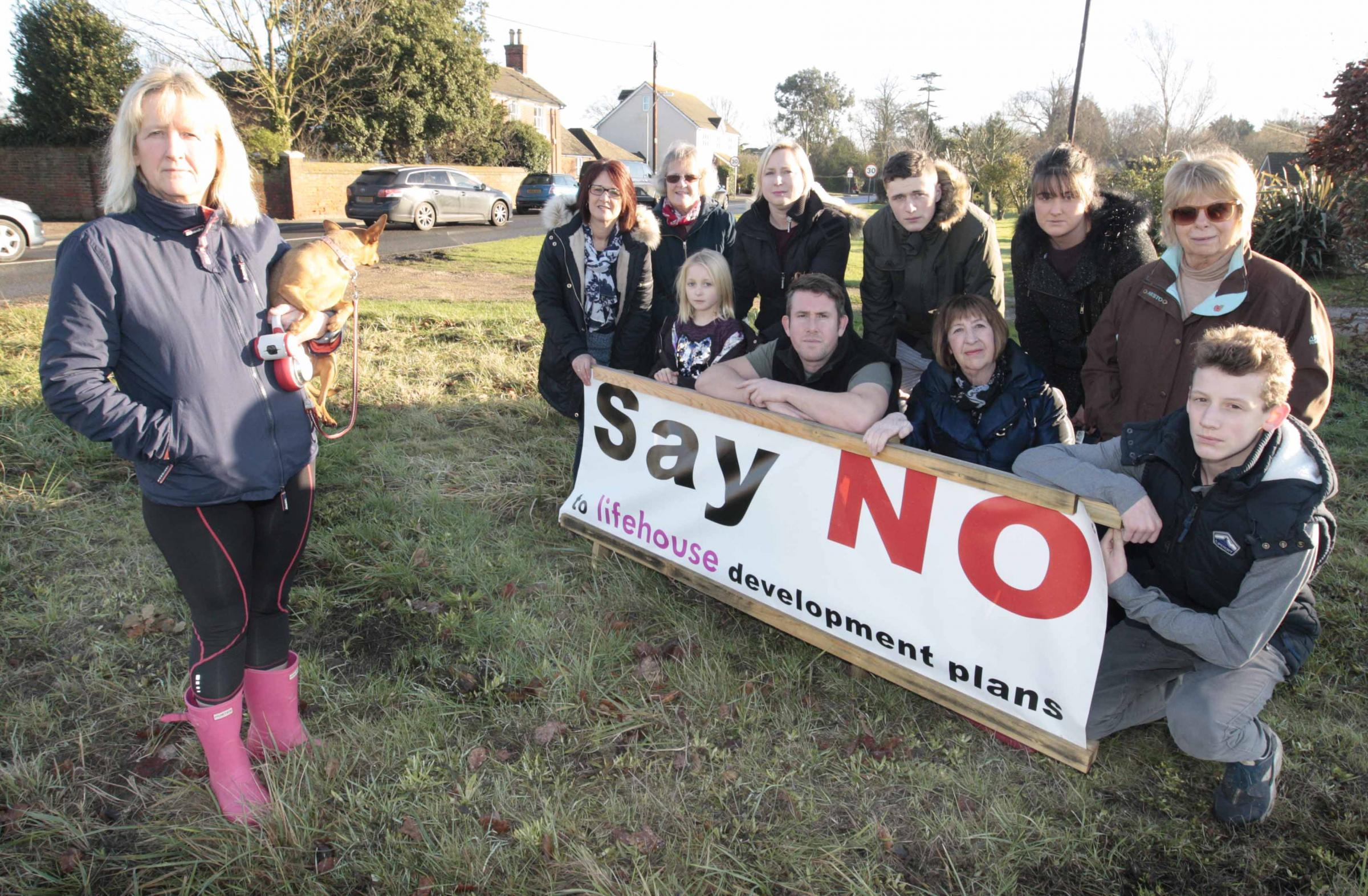 Fighting on: Campaigners have vowed to battle against any future applications for hundreds of homes at Thorpe's Lifehouse Spa site