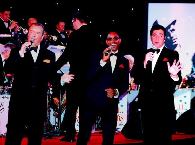 VIVA LAS VEGAS: David Alacey, Des Colman and Paul Drakeley recreate the Rat Pack days