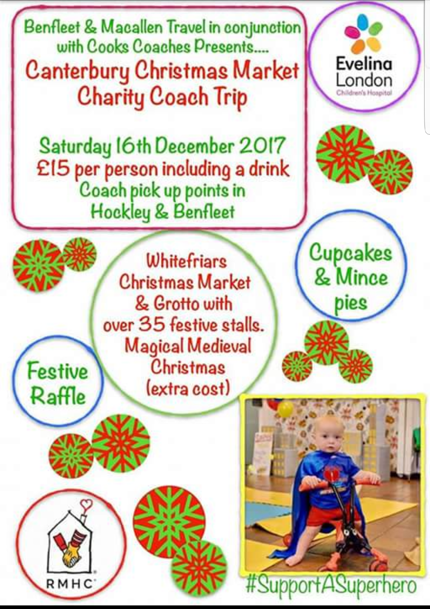 Christmas market charity coach trip