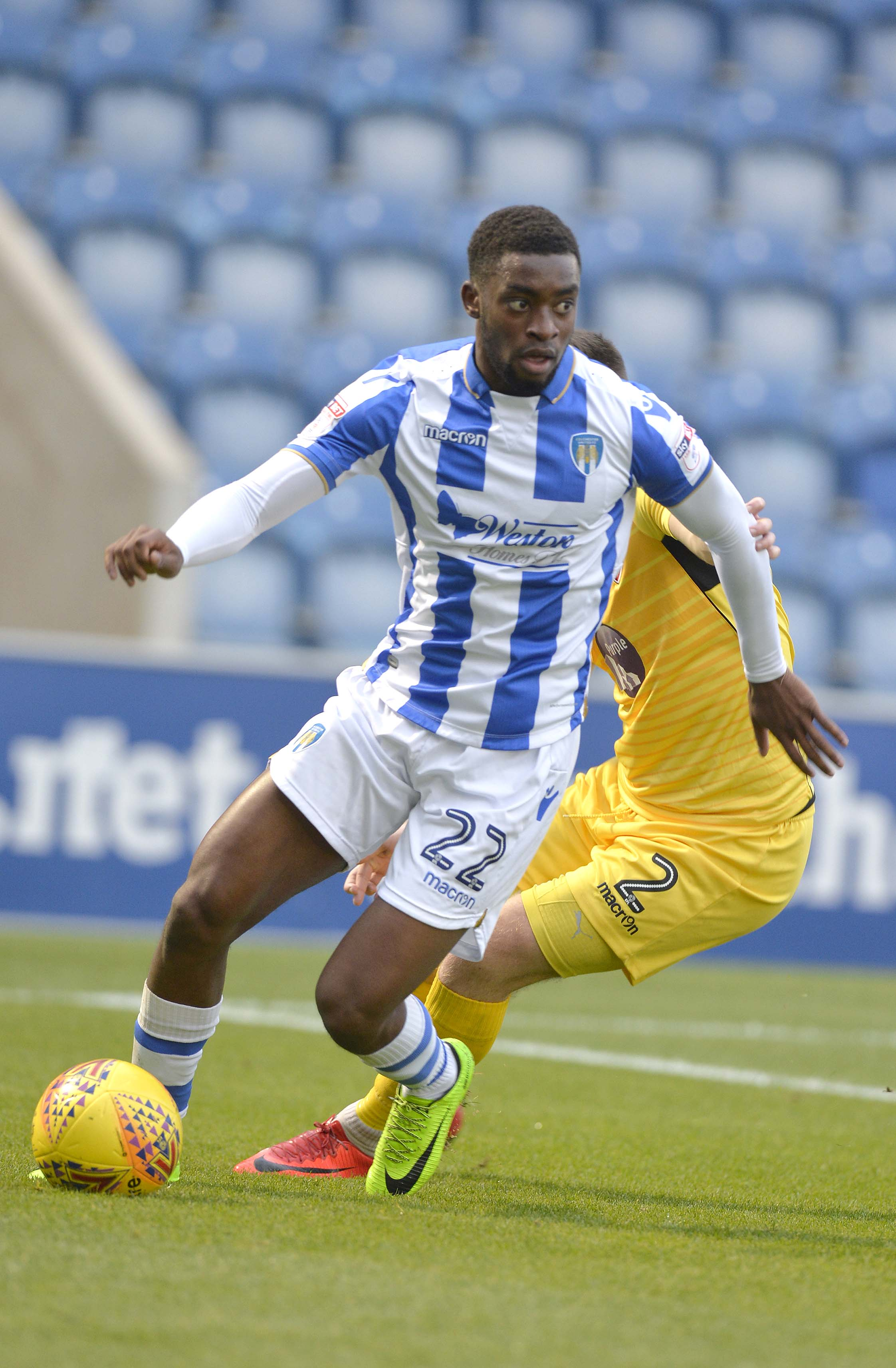 Assessment - Colchester United will further examine the extent of Kane Vincent-Young's knee injury today ahead of their trip to play Chesterfield this weekend Picture: STEVE BRADING