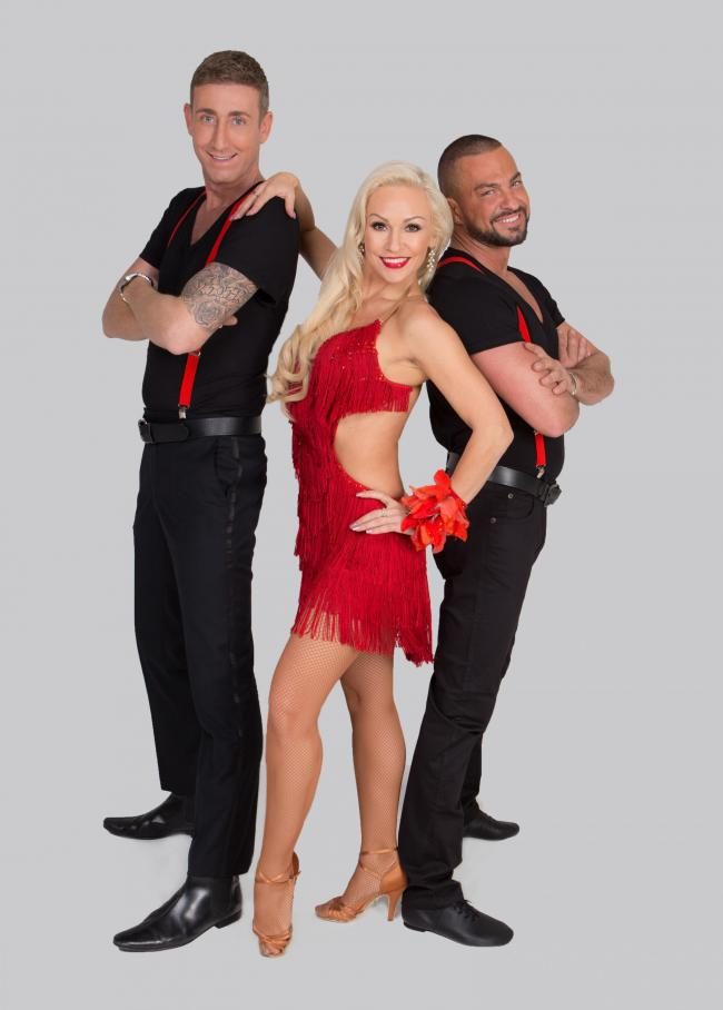 Kristina Rhinaoff with Christopher Maloney (left) and Robin Windsor in Dance To The Music