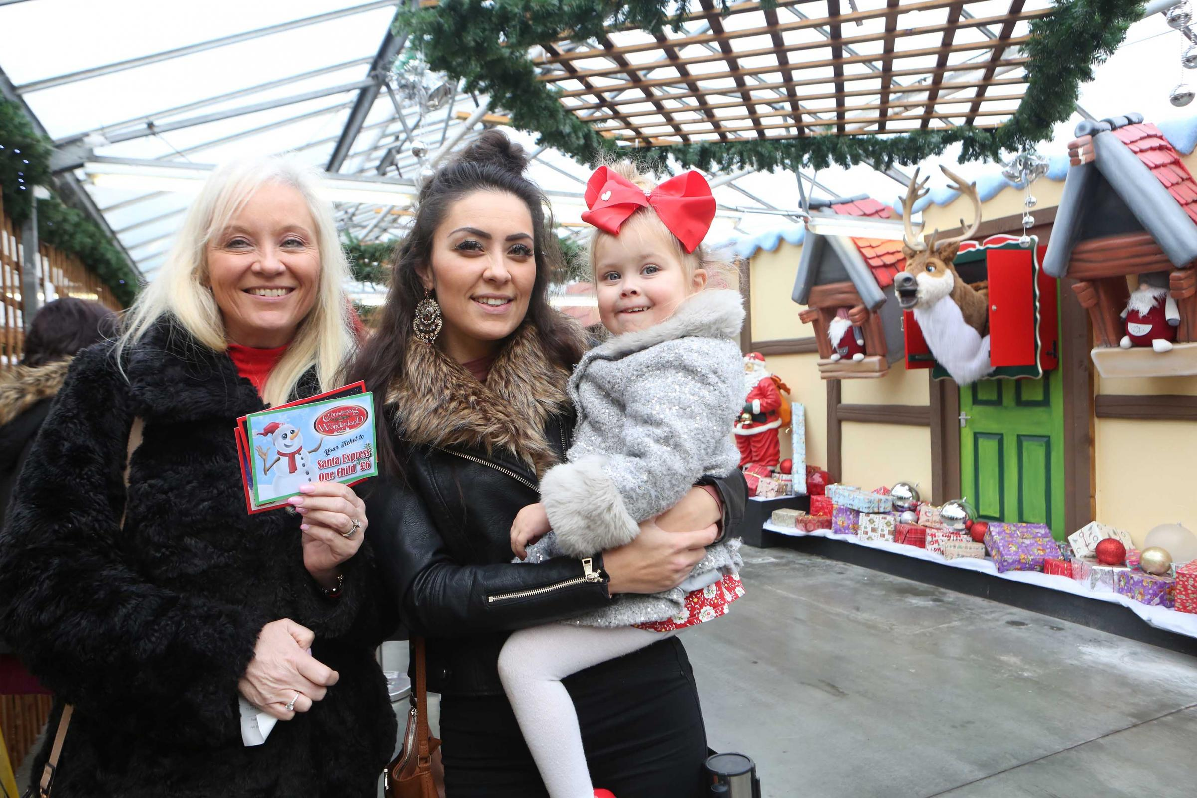 Sonia, Lorena and Mya Fisk turned enjoyed a visit to Christmas Wonderland in December after Tendring Council threatened the attraction with High Court action