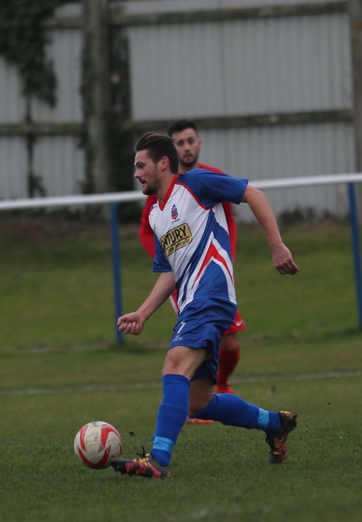 Jake Plane scored twice for Clacton against Wivenhoe