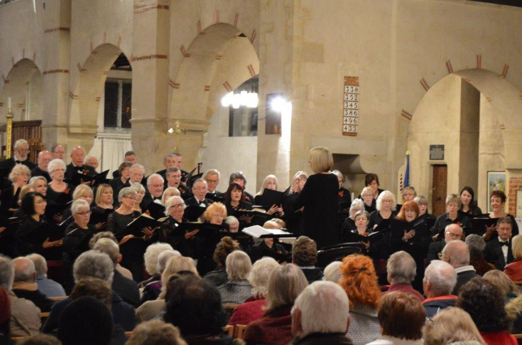 ON SONG: Clacton Choral in action at St James' Church