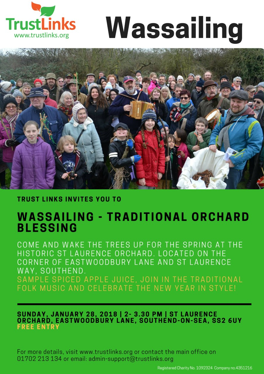 Wassailing in St Laurence Orchard