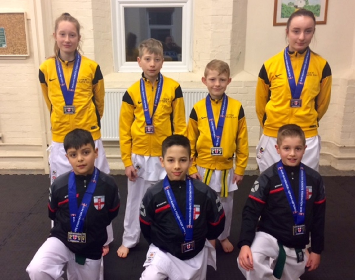 Dream team - the Links Karate Club aces that enjoyed success at Kyu Grade National Championships, in Leicester