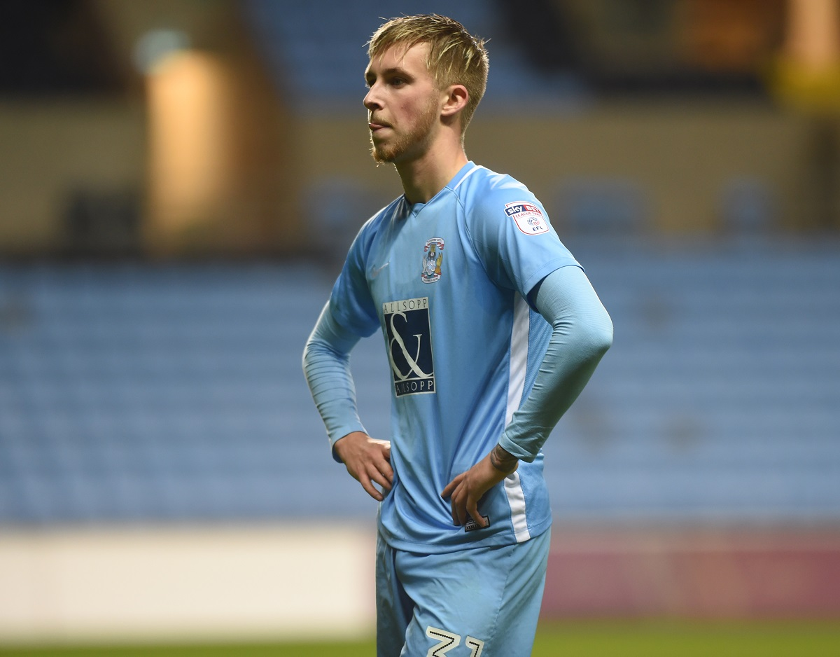 New challenge - Ben Stevenson left Coventry City to join Wolves before linking up with Colchester United on loan on deadline day Picture: COVENTRY TELEGRAPH