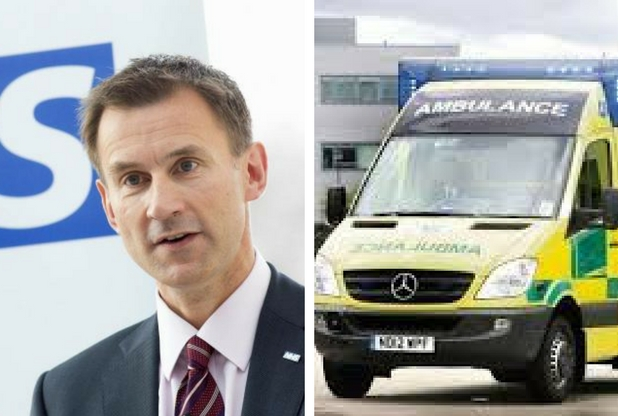 Jeremy Hunt admits that the East of England Ambulance Service is struggling