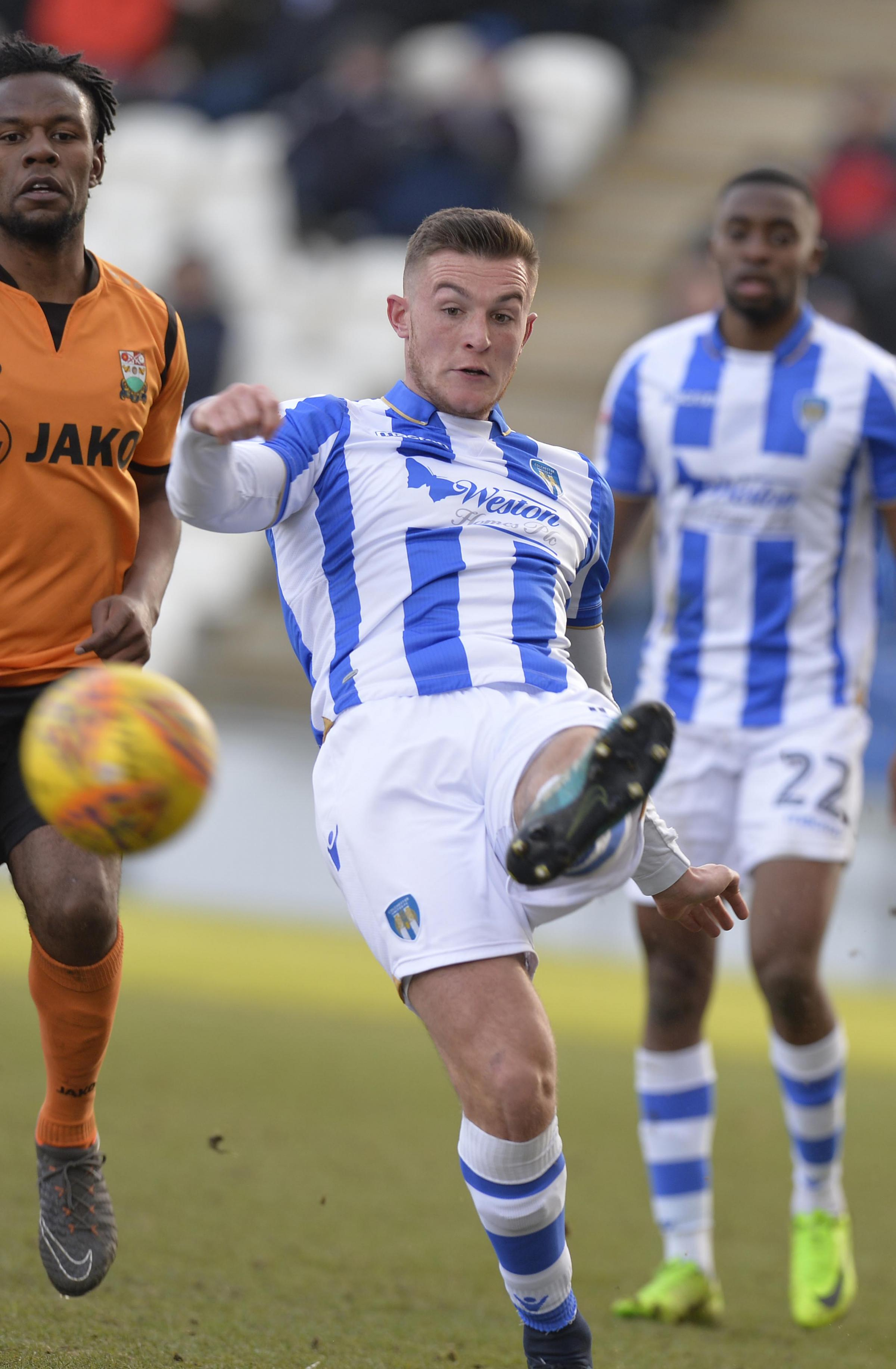 Comeback kid - Brennan Dickenson has appeared as a substitute in each of Colchester United's last three matches in League Two Picture: STEVE BRADING