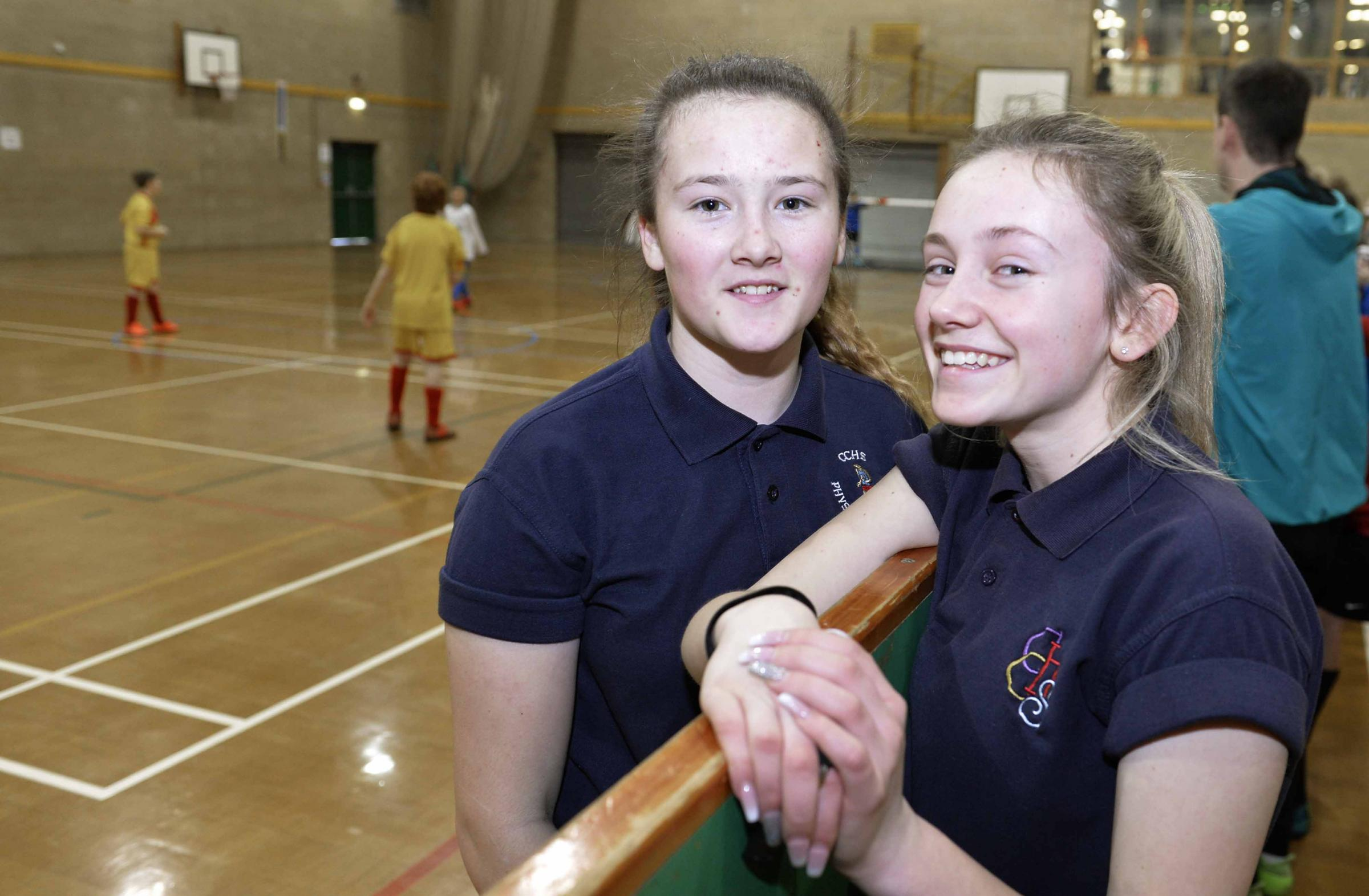 Year ten Clacton County High School students Hermione Wood and Elise Purser qualified as football refs