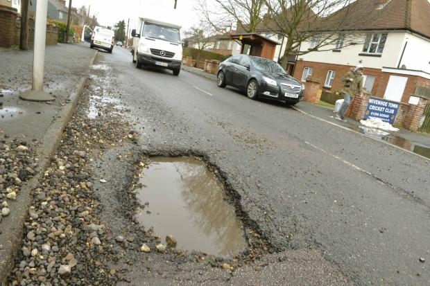 Tendring has many potholes of varying sizes littered across the district