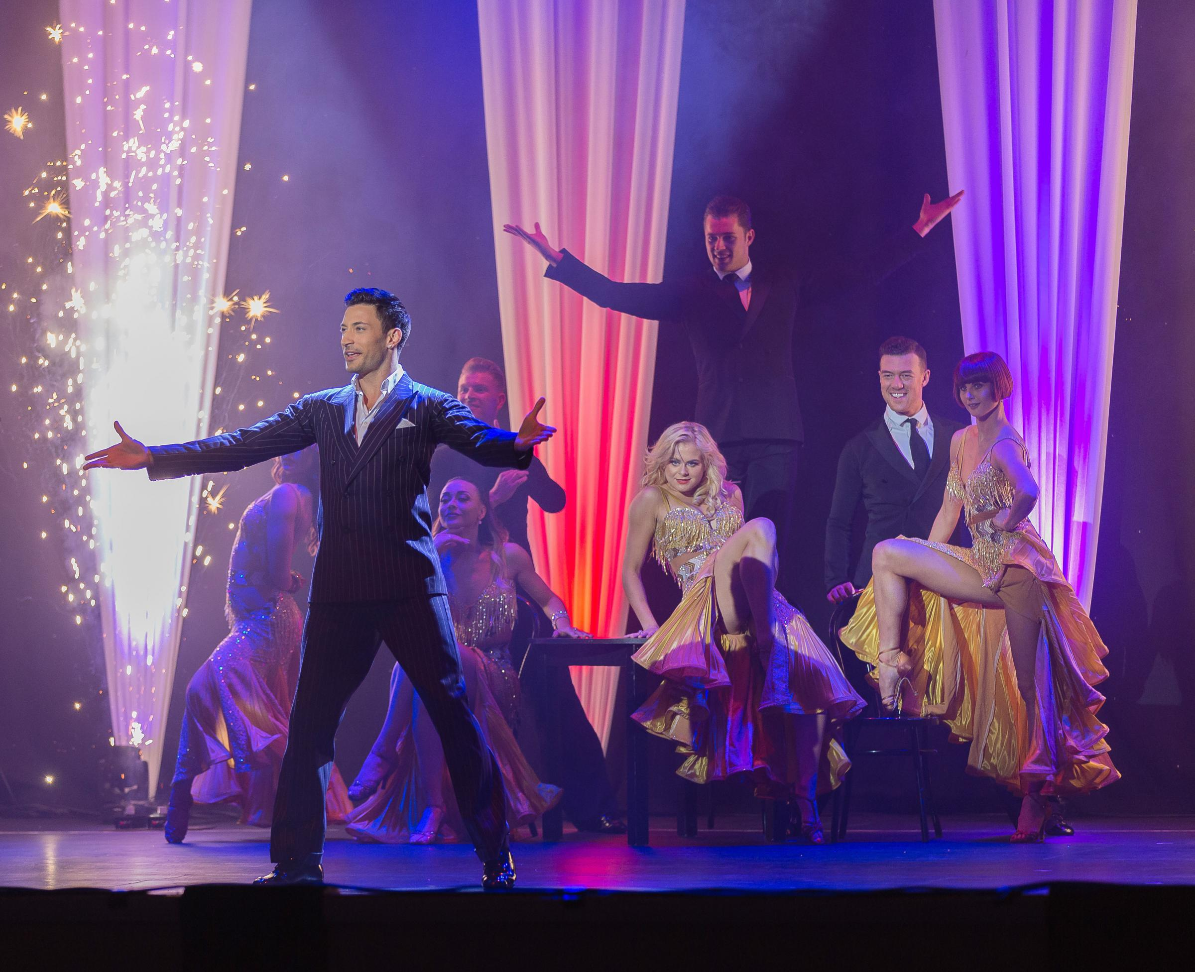 Giovanni Pernice and the cast of Born To Win