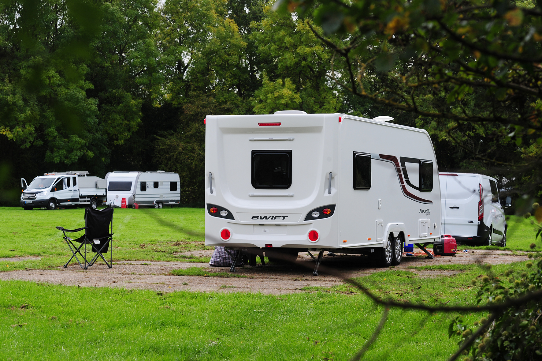 Travellers have pitched up in the Beaconsfield carpark, Langdon Hills..