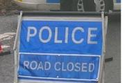 Road closed following accident involving a lorry