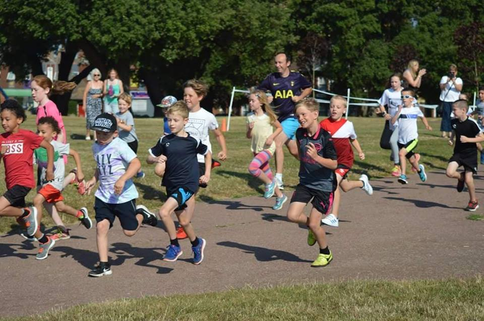 Youngsters taking part in the junior park run in Harwich