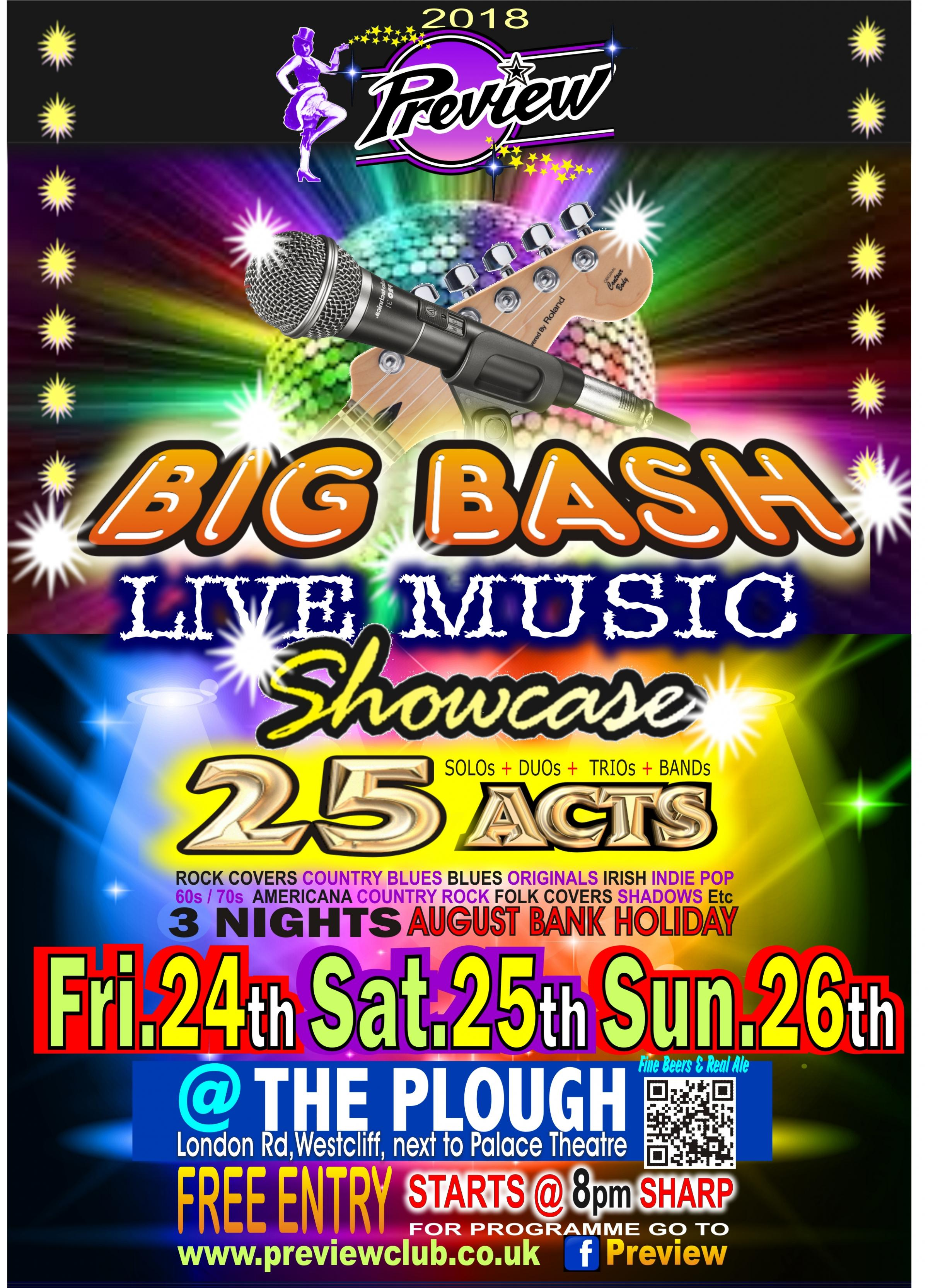 THE Preview BIG Live Music BASH