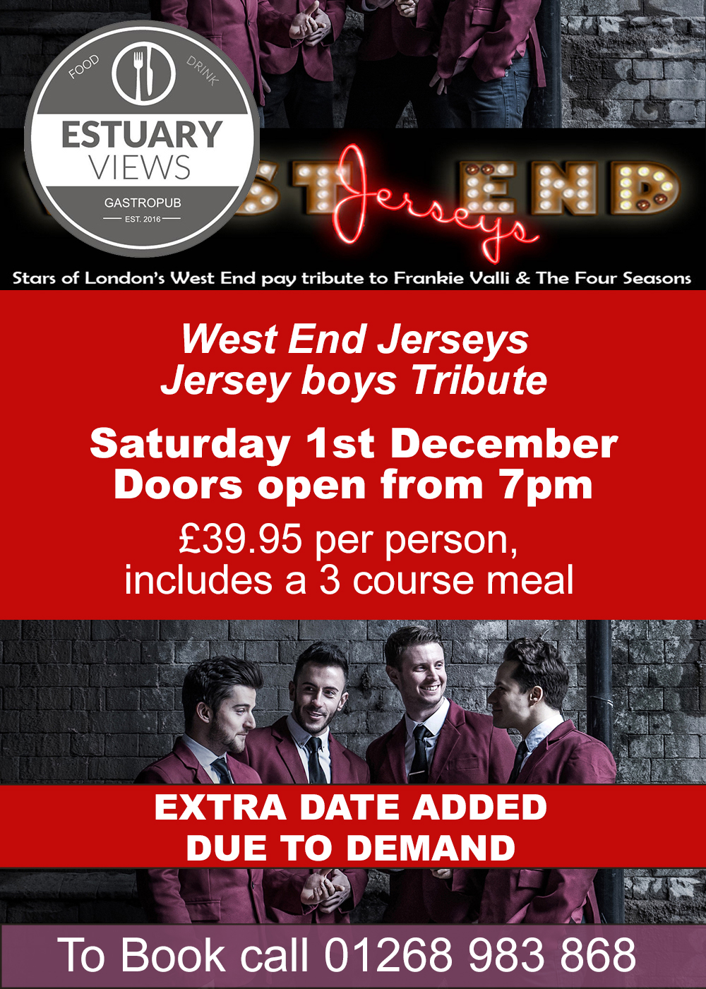 Jersey Boys Tribute with the West End Jerseys