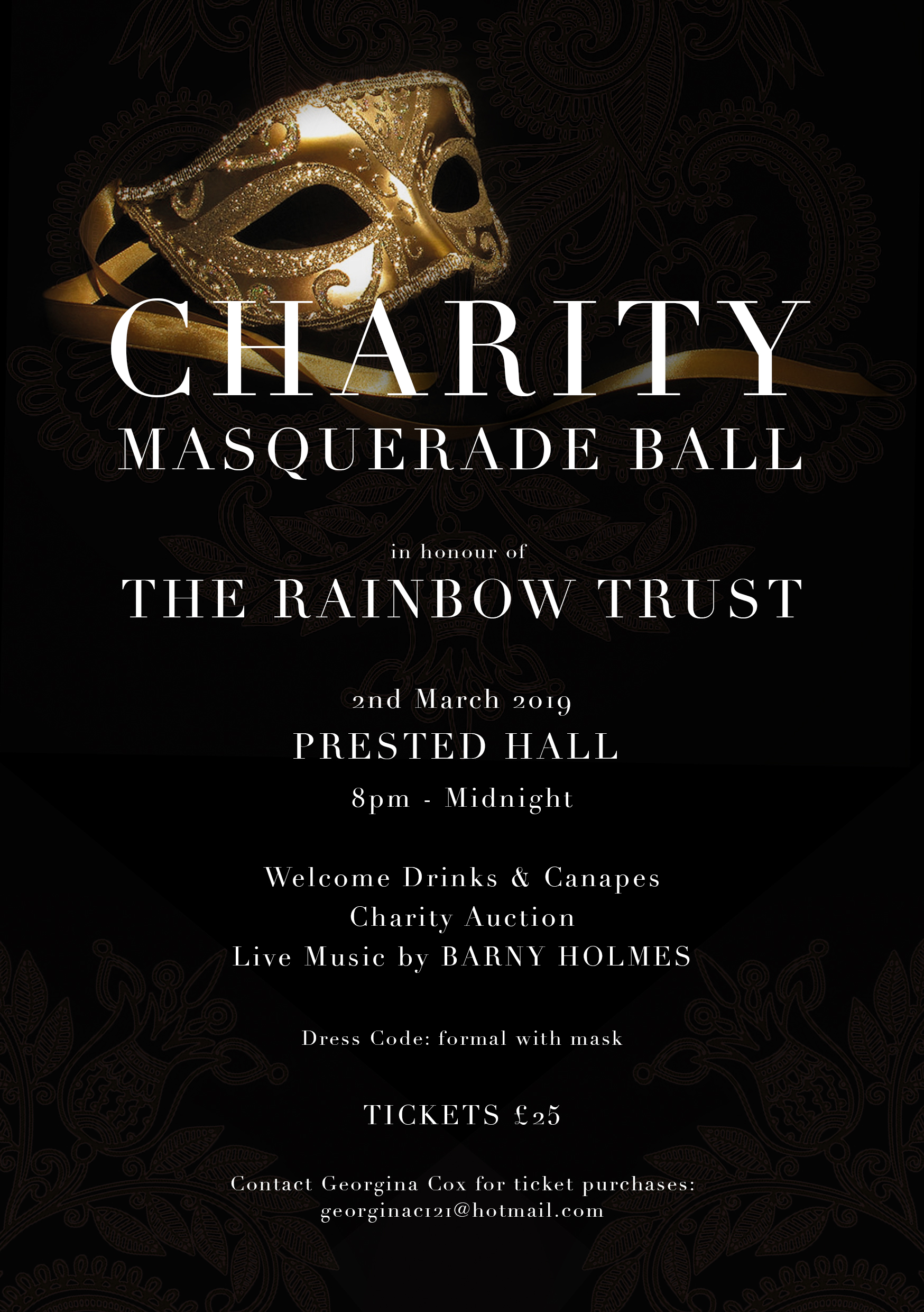 Charity Masquerade Ball for the Rainbow Trust