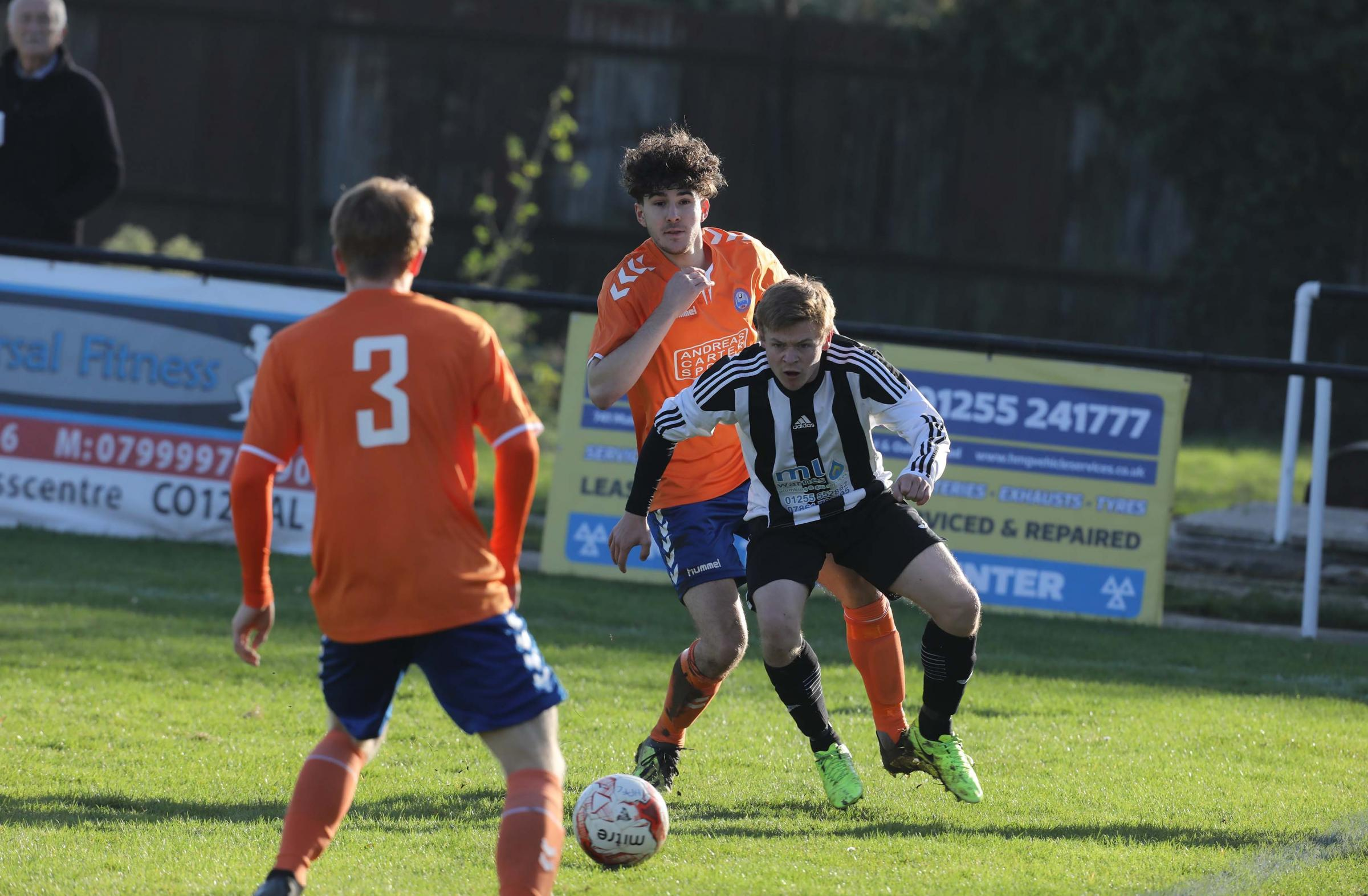 Key man - Harwich and Parkeston's Tyler Rose was on the scoresheet against Little Oakley on Boxing Day