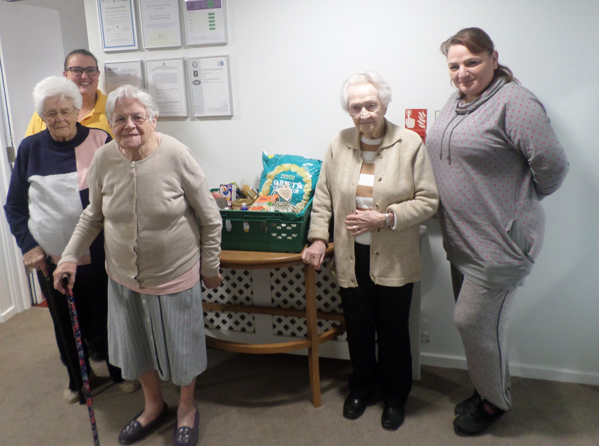 FOODBANK DONORS: Residents of the Don Thomson house