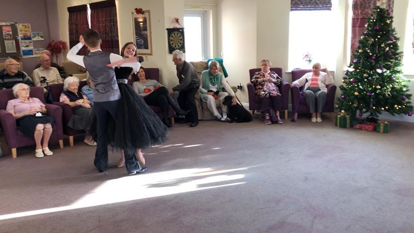 BALLROOM DANCING: Youngsters whirling their way around the floor