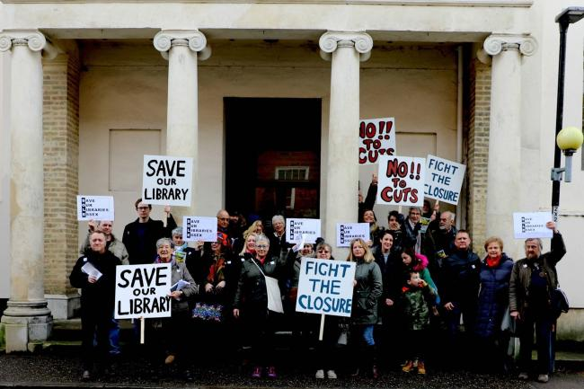 Fight - Campaigners fighting against the closure of Manningtree Library Picture: Debbie Burrows
