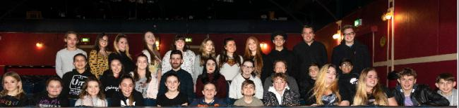 Cast of Guys and Dolls at the West Cliff Theatre, in Clacton