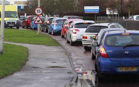 Traffic at Colchester Hospital