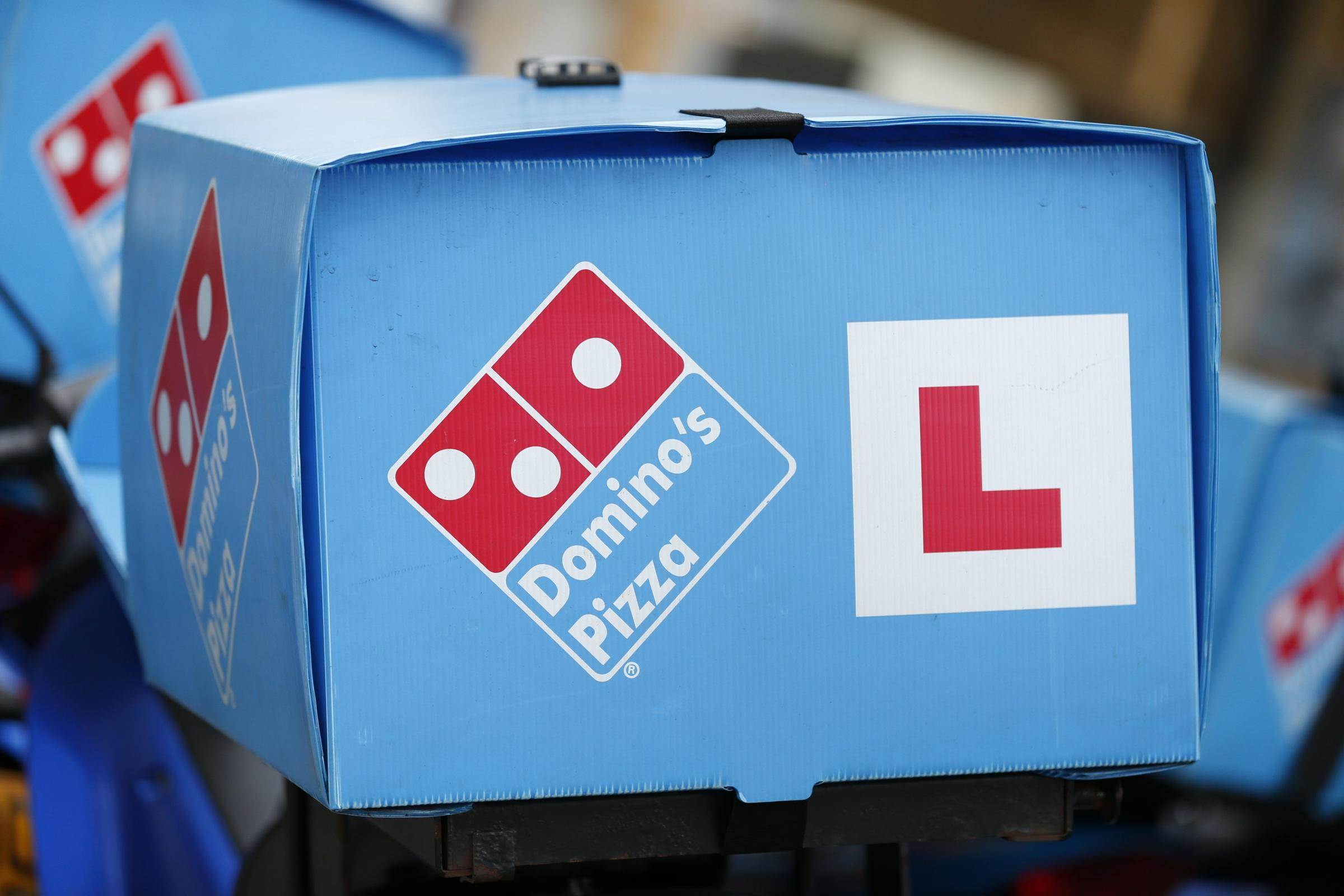 Domino's Pizza delivery motorcycle