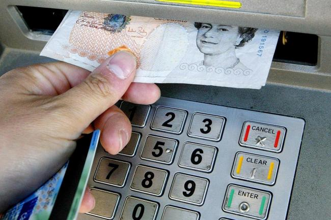 Money withdrawn from cashpoint