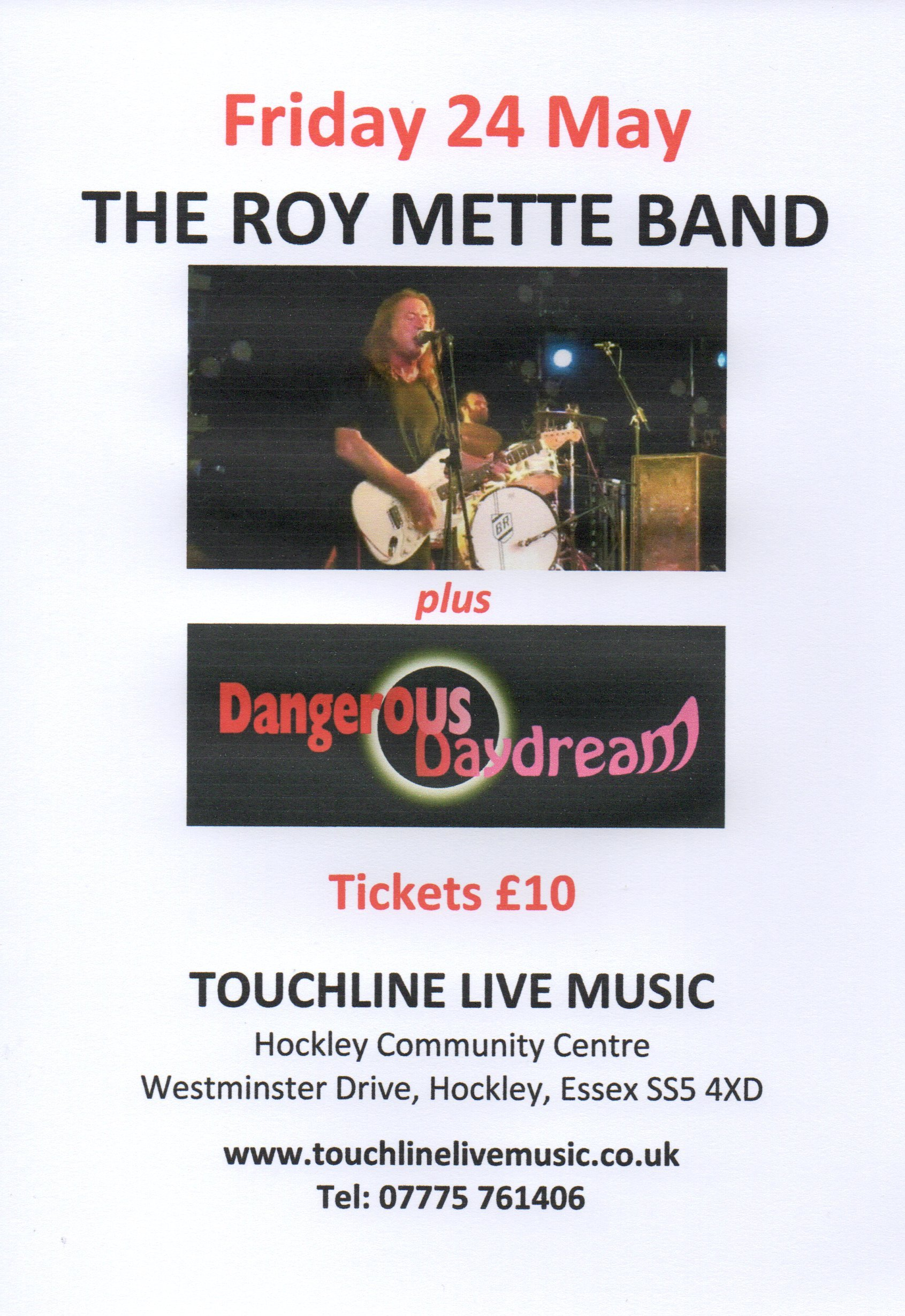 The Roy Mette Band + Dangerous Daydream
