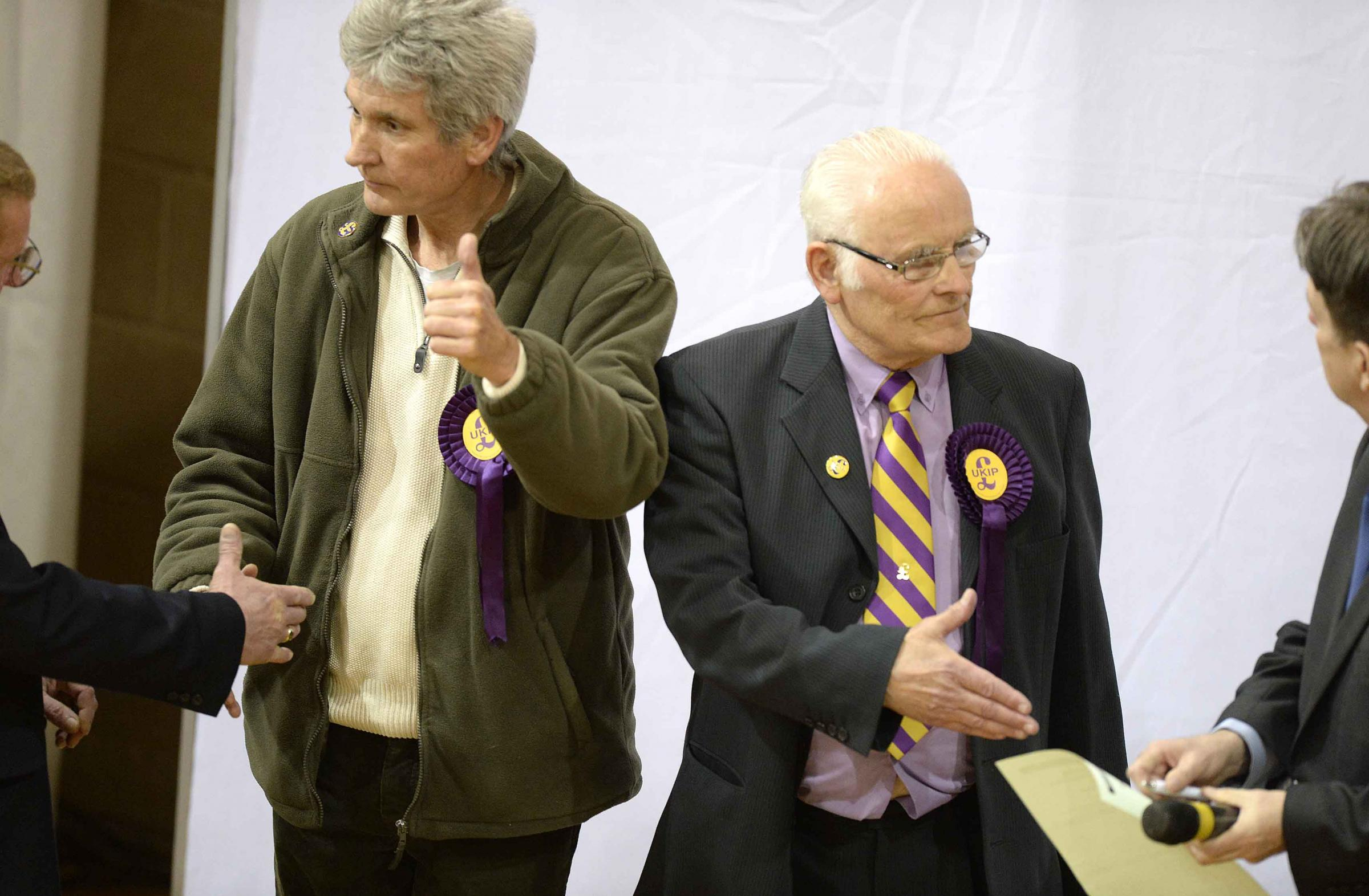Election 2015 - Former Ukip councillors Kevin Watson and Roy Raby defected to teh Conservatives