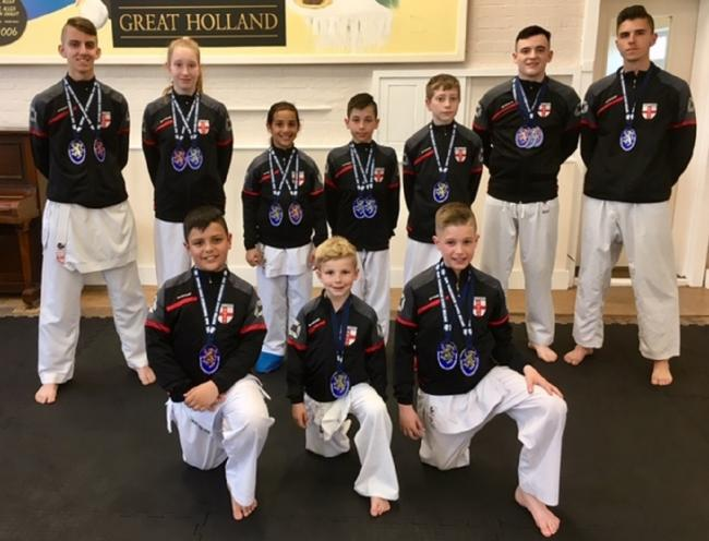 Scottish success: Links Karate Club members won eight gold, four silver and six bronze medals in Glasgow.