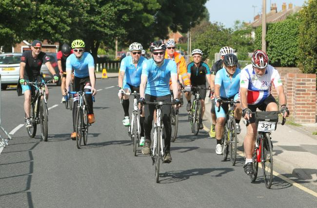 Postponed - the Tour de Tendring setting off from Dovercourt last year but this year's event has been put off until a later date