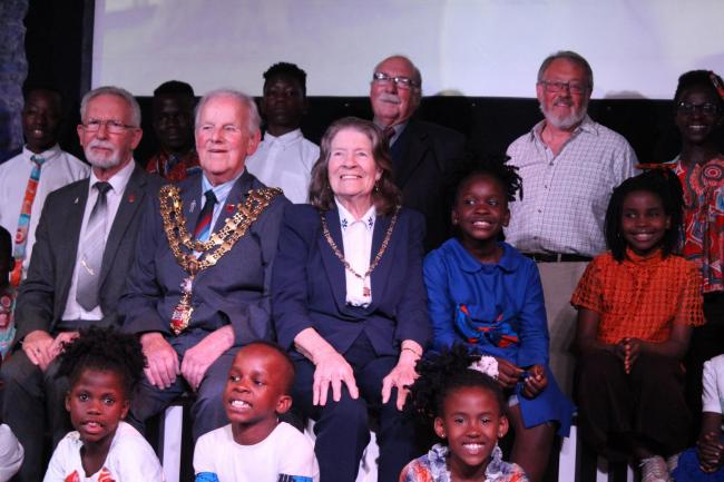 Harwich mayor and mayoress Alan and Sylvia Todd at the Watoto Choir concert